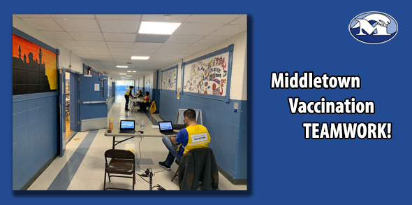 Vaccination Teamwork at Gaudet MS
