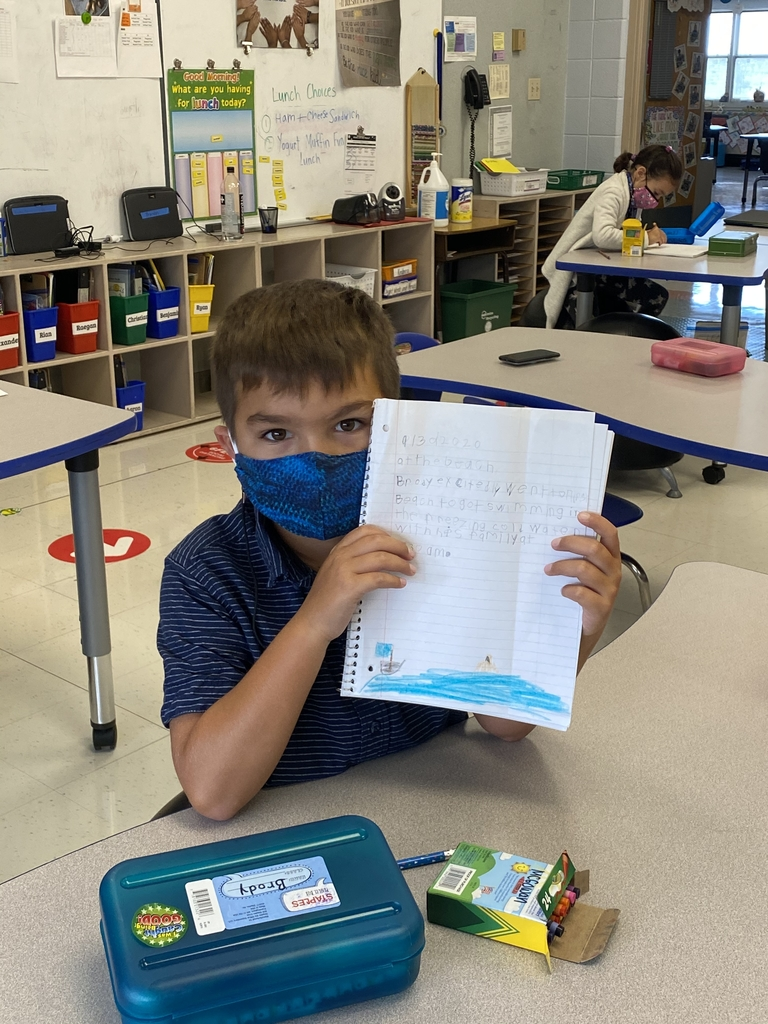 Second Grade - Writing in Ms. Dugan's class.